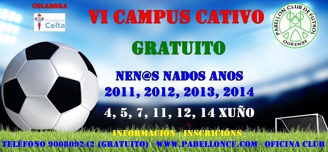 VI Campus Cativo Gratuito l Aberta a inscrición